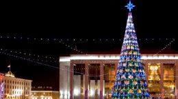 елка на главной площади столицы