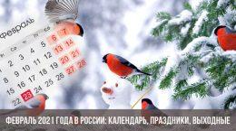 Февраль 2021 года в России: календарь, праздники, выходные
