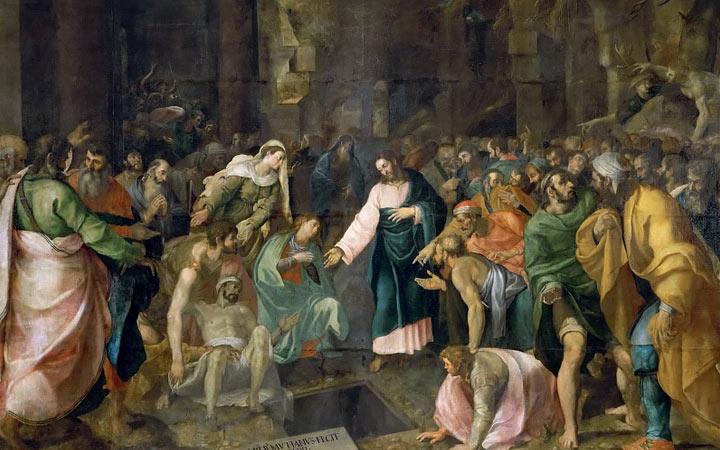 Воскрешение Лазаря - картина