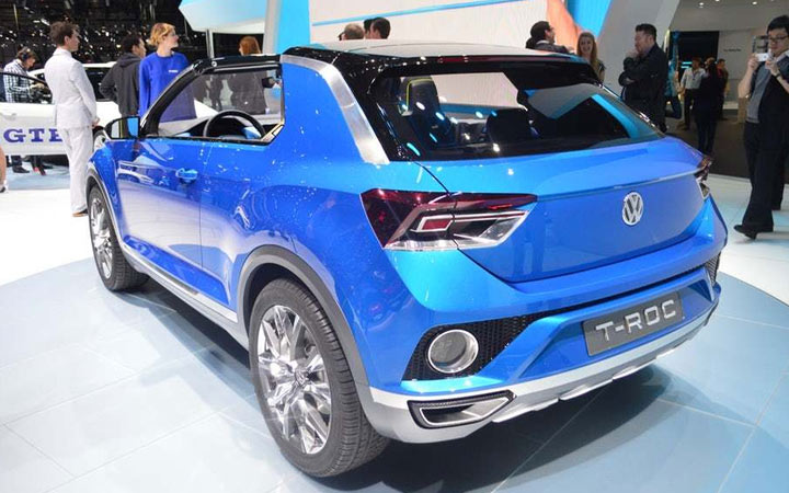 Внедорожник кабриолет VW T-Roc Convertible 2020-2021 года