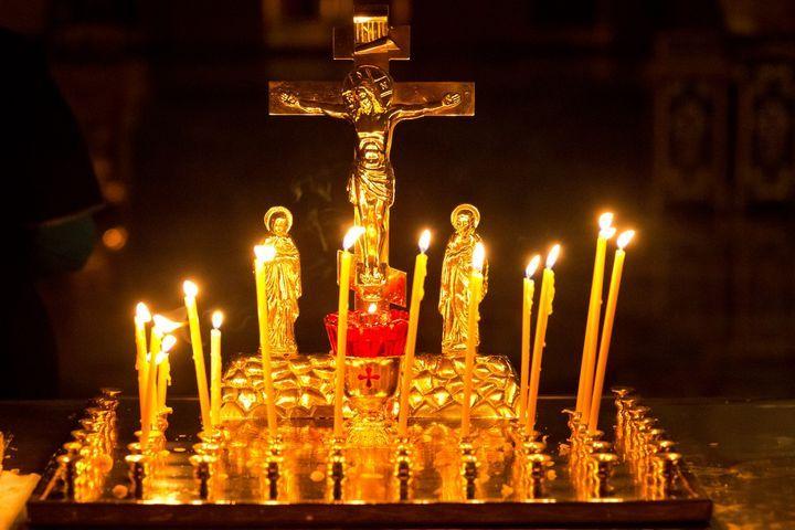 Свечи в церкви