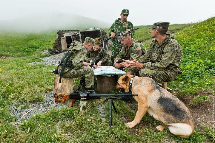 Пограничники РФ на службе