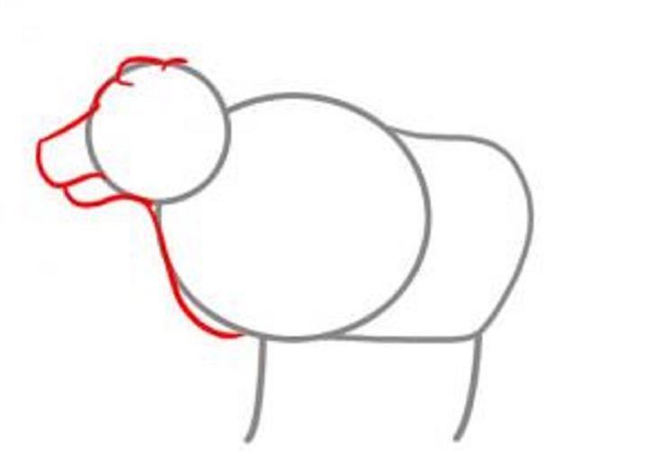 Схема рисунка быка на Новый 2021 год