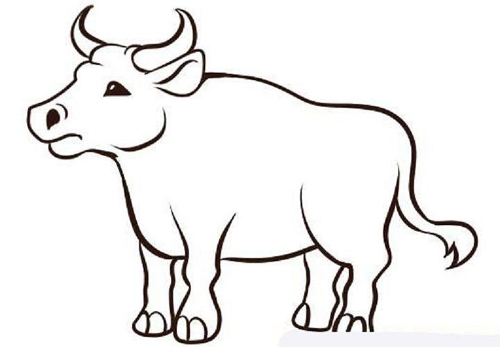 Рисунок быка на новый 2021 год для детей