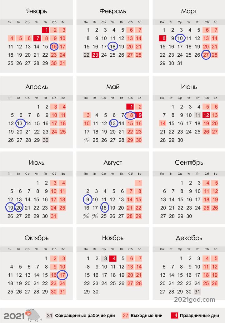 Мусульманский календарь на 2021 год