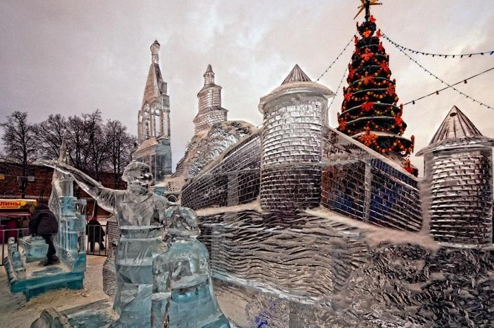 ледовые скульптуры в нижнем новгороде