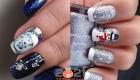 Новогодняя роспись ногтей 2021