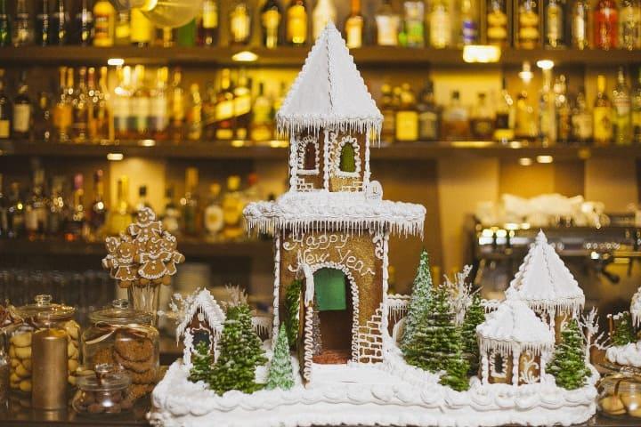 новогодний торт в ресторане