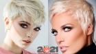 Пикси на белые волосы - модная стрижка 2020 и 2021 года