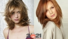 Модные стрижки 2020-2021 - лесенка на средне волосы