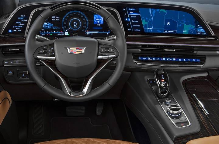 Интерьер Cadillac Escalade 2021 года