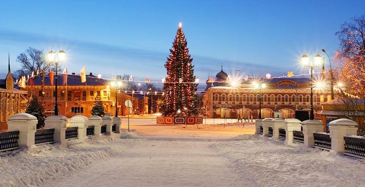 новогодняя елка в Ярославле