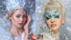 Модный фантазийный макияж на Новый Год 2021