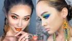 Яркий макияж под цвет глаз на 2021 год