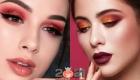 Яркий новогодний макияж 2021 для карих глаз
