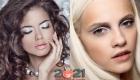 Яркий новогодний макияж 2021 для серых глаз