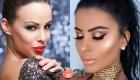 Модный блестящий макияж на Новый Год 2021