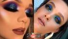 Блестящий макияж на Новый Год 2021