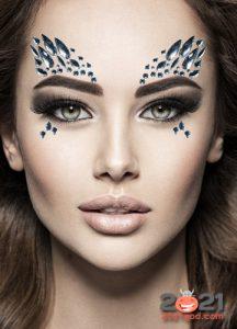Необычный новогодний макияж на 2021 год