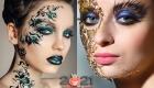 Вечерний арт-макияж на Новый Год 2021
