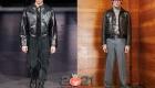 Короткая кожаная мужская куртка 2020-2021