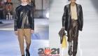 Стильная мужская куртка из кожи осень-зима 2020-2021