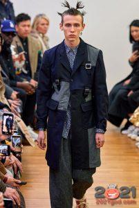 Мужская мода 2020-2021 - комбинированные мужские куртки и полупальто