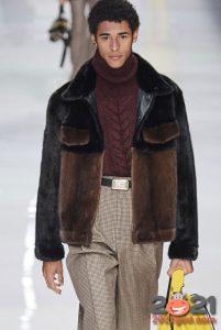 Меховая комбинированная куртка - мужская мода 2020-2021 года