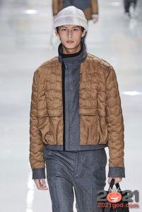 Осень-зима 2020-2021 - модная мужская куртка из комбинированных материалов