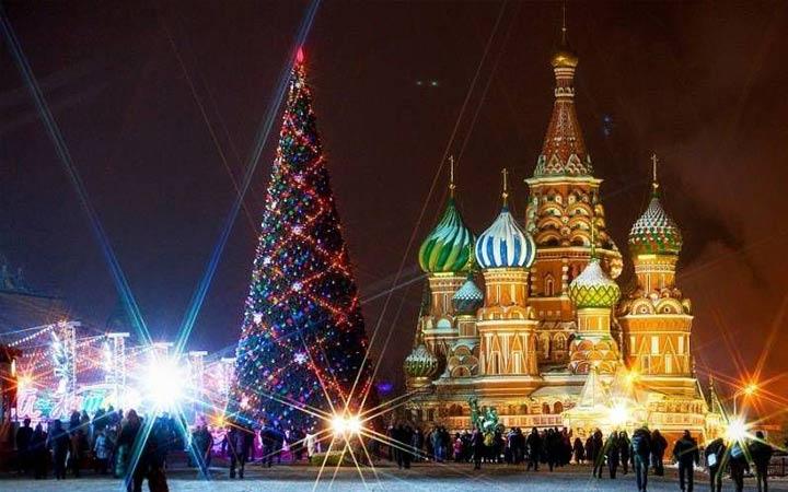 красная площадь на новый год