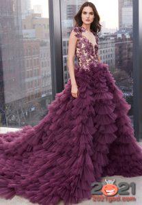 сиреневое новогоднее платье на 2021 год