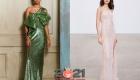 Асимметричное вечернее платье с блестками на Новый Год 2021