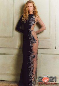 Полупрозрачное вечернее платье на Новый Год 2021