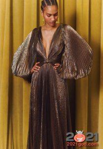 Платье гофре на Новый Год 2021