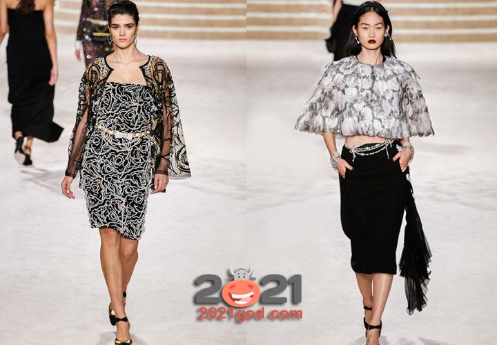 Модные накидки от Шанель осень-зима 2020-2021