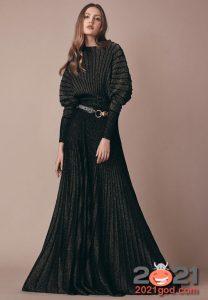 Модное вязаное платье на Новый Год 2021