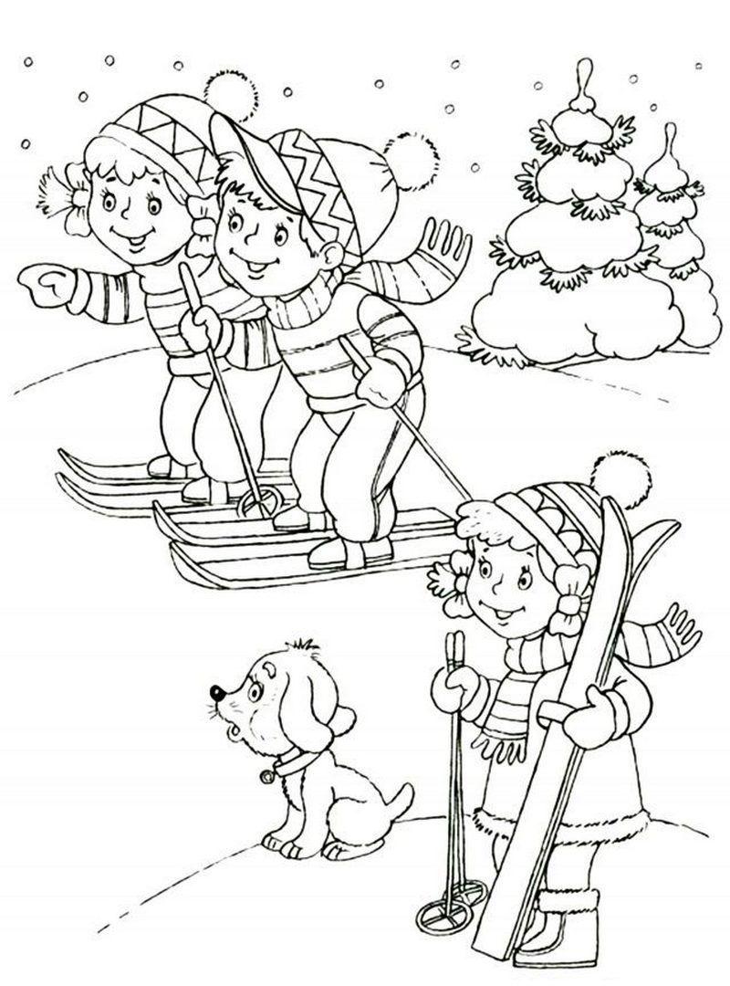 Раскраска на Новый год