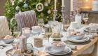 Сервировка новогоднего стола на 2021 год в серебристой гамме