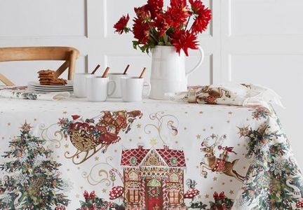 Новогодний текстиль на 2021 год - сервировка стола