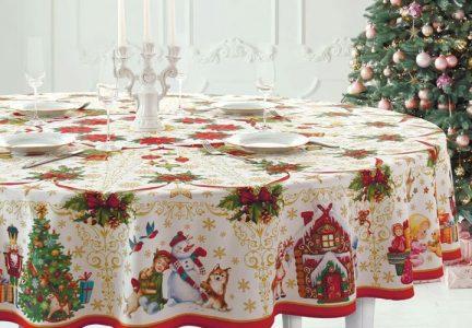 Скатерть на новогодний стол 2021