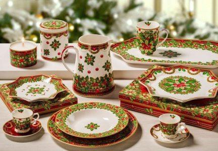 Новогодняя посуда - сервировка стола на 2021 год