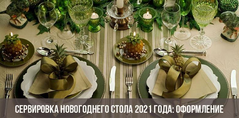 Сервировка новогоднего стола 2021 года: оформление