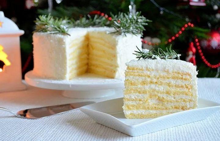 Новогодний торт «Снежинка»