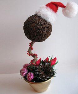 Новогодние топиарии с кофе
