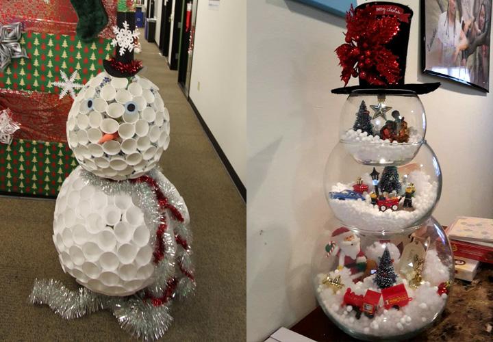 Новогодние снеговички для офиса