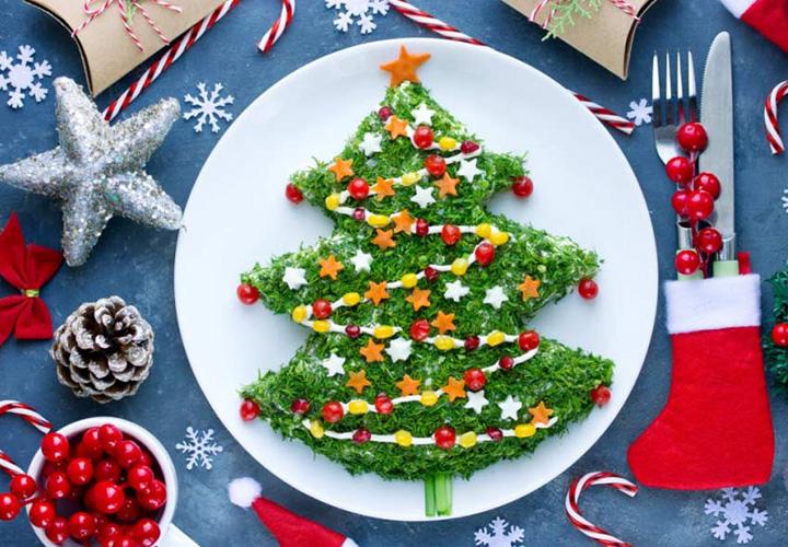 Салат новогодняя елочка на Новый Год 2021