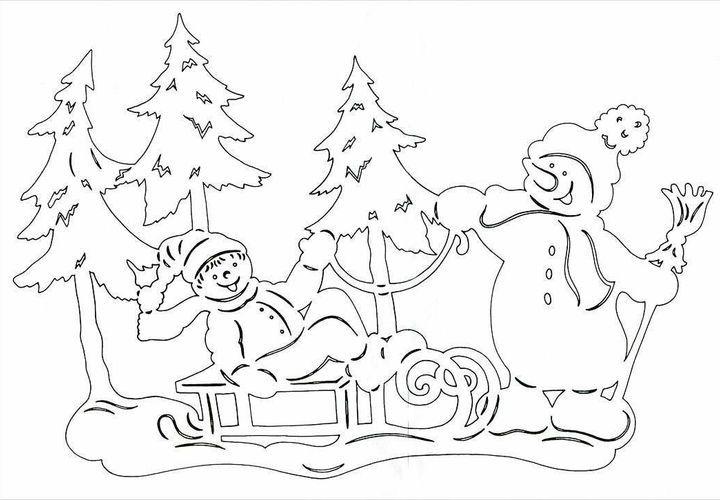 Вырезалка сани Деда Мороза