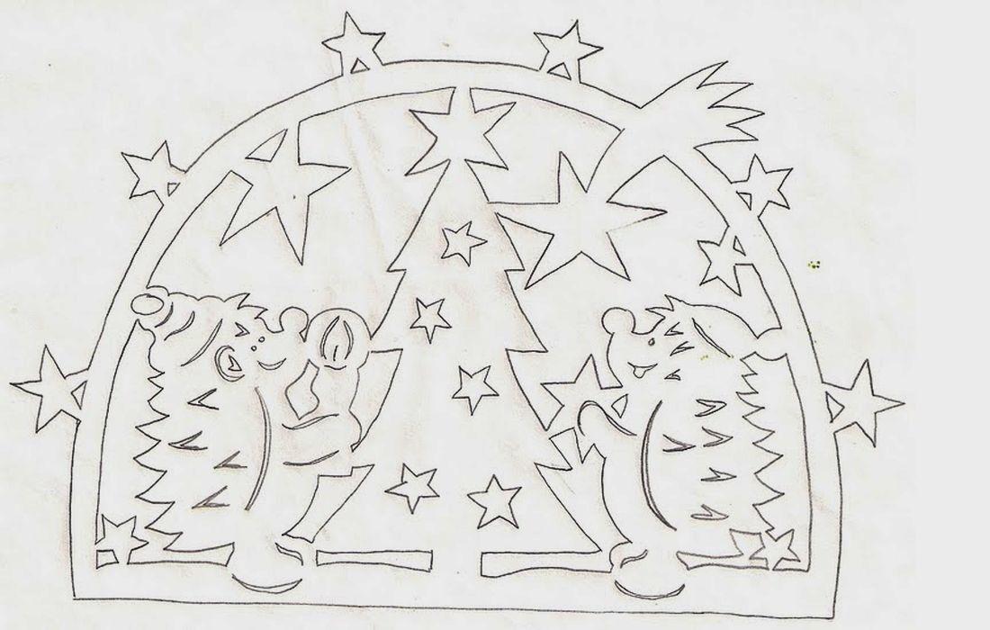 Шаблон новогодней вырезалки