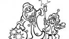 Вытынанка Дед Мороз