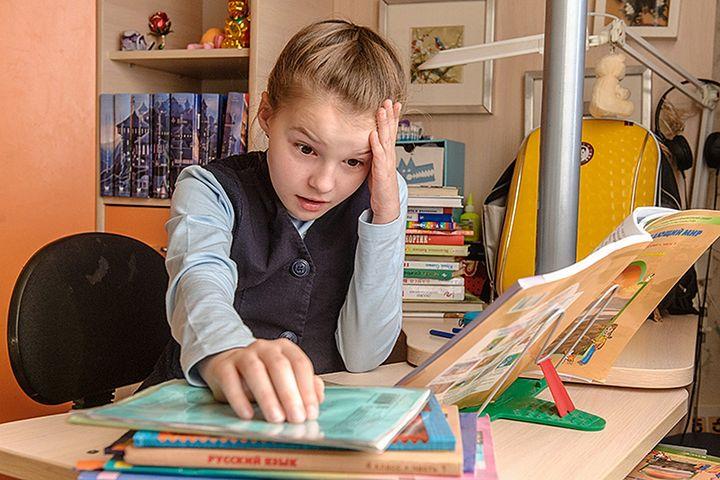 Школьник готовится к контрольной